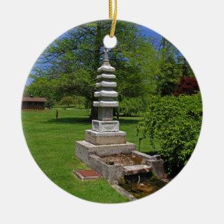 1 Joe and Marie Schedel Pagoda-horizontal.JPG Round Ceramic Ornament