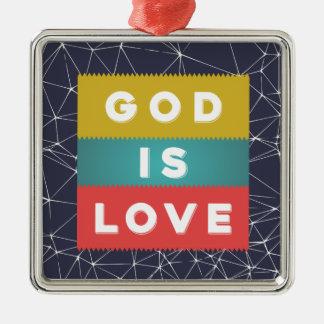 1 John 4:8 - God Is Love Metal Ornament