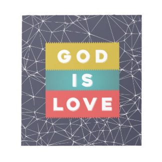 1 John 4:8 - God Is Love Notepad