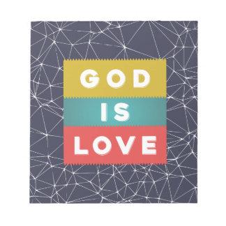1 John 4:8 - God Is Love Notepads