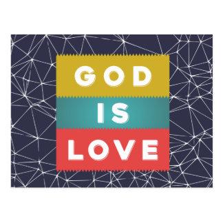 1 John 4:8 - God Is Love Postcard