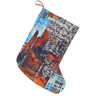 1 John Chapter 2 Lm Small Christmas Stocking
