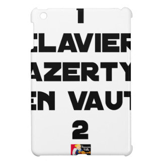 1 KEYBOARD AZERTY IS WORTH 2 of THEM - Word games Cover For The iPad Mini