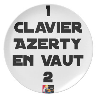 1 KEYBOARD AZERTY IS WORTH 2 of THEM - Word games Plate