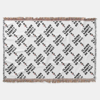 1 KEYBOARD AZERTY IS WORTH 2 of THEM - Word games Throw Blanket