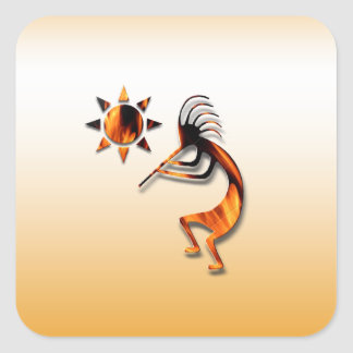 1 Kokopelli #1 Square Sticker