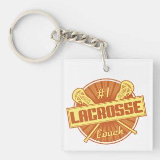 #1 Lacrosse Coach (orange) Keychain