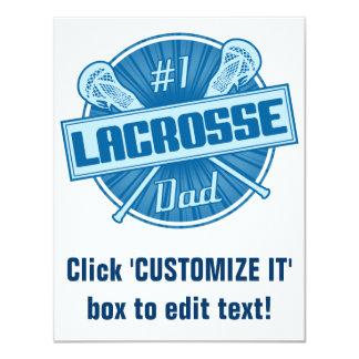 "#1 Lacrosse Dad 4.25"" X 5.5"" Invitation Card"