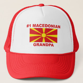 #1 Macedonian Grandpa Trucker Hat