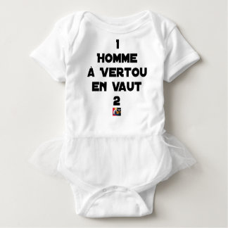1 MAN WITH VERTOU IS WORTH 2 of THEM - Word games Baby Bodysuit
