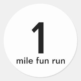 1 Mile Fun Run Sticker