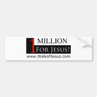 1 Million For Jesus Bumper Sticker