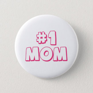 #1 Mom Number One Mom Tote bag 2 Inch Round Button