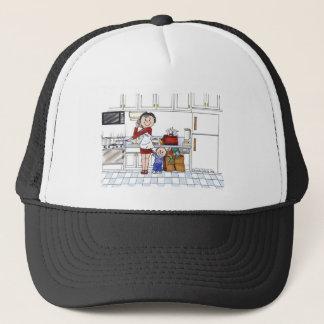 #1 Mom - Personalized Cartoon, Friendly Folks Trucker Hat