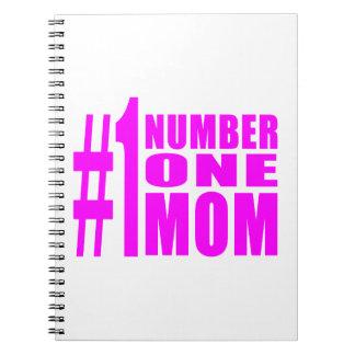 1 Moms Birthdays Christmas Number One Mom Notebooks