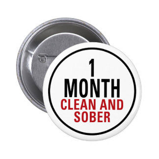 1 Month Clean and Sober Pins