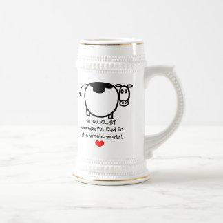 #1 Moo...st Wonderful Father - Stein Beer Steins