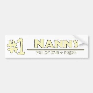 1-nanny bumper sticker