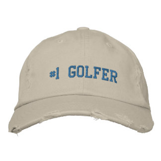 #1 Number One Golfer Embroidered Hat