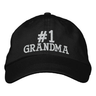 #1 Number One Grandma Embroidered Cap Embroidered Baseball Caps