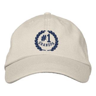 #1 Number One Grandpa Embroidered Cap Baseball Cap