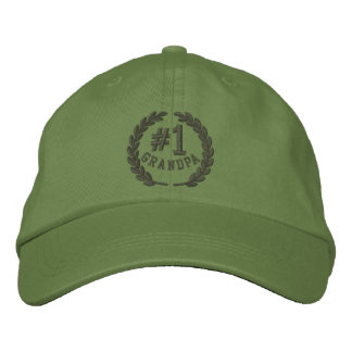 #1 Number One Grandpa Embroidered Cap Embroidered Baseball Caps