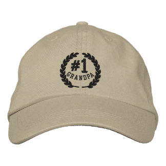 #1 Number One Grandpa Embroidered Cap Embroidered Hats