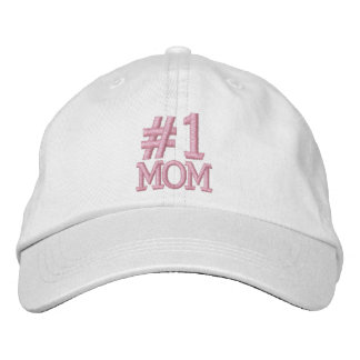 #1 Number One MOM Embroidered Cap