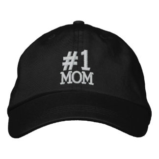 #1 Number One MOM Embroidered Cap Embroidered Hat
