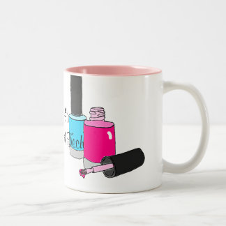 #1 Number One Nail Technician Manicurist Two-Tone Coffee Mug