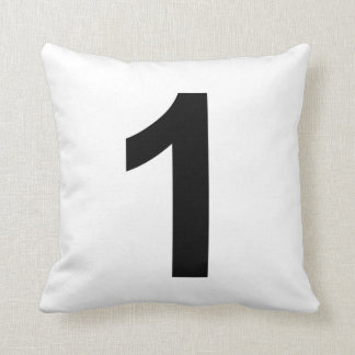 1number one throw pillow