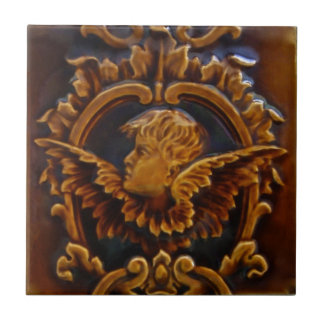 1 of 2 Antique Victorian Cherub Angel Tile Repros