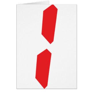 1 one red alarm clock digital card