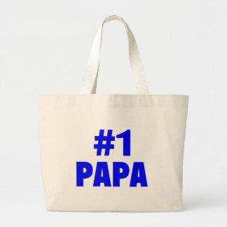 #1 Papa Canvas Bags