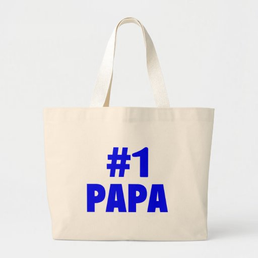 #1 Papa Canvas Bags