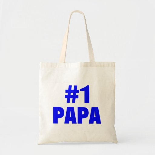 #1 Papa (Blue) Tote Bag