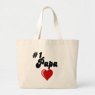 #1 Papa - Celebrate Grandparent's Day Jumbo Tote Bag