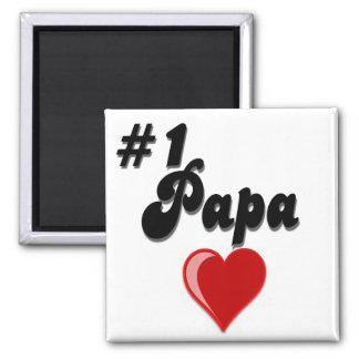 #1 Papa - Celebrate Grandparent's Day Refrigerator Magnet