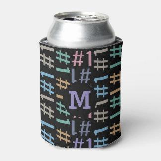 """# 1"" Pattern custom monogram can cooler"