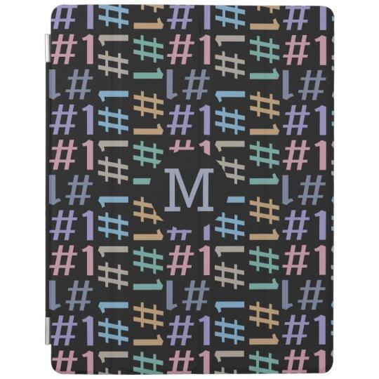"""# 1"" Pattern custom monogram device covers iPad Cover"