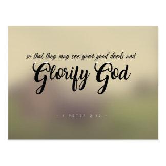 1 Peter 2:12 - Glorify God Postcard