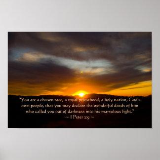 1 Peter 2:9 Poster