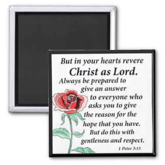 1 Peter 3:15 Magnet