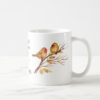 1 Peter 4:8 Love Each Other Deeply Scripture Birds Coffee Mug