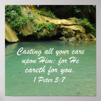 1 Peter 5:7 Poster