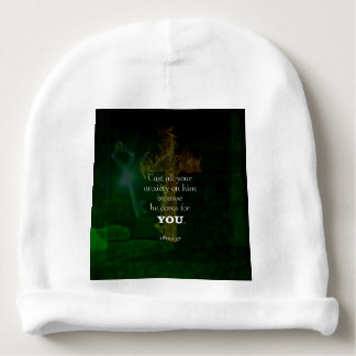 1 Peter 5:7 Uplifting Bible Verses Quote Baby Beanie