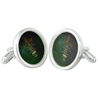 1 Peter 5:7 Uplifting Bible Verses Quote Cuff Links