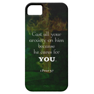 1 Peter 5:7 Uplifting Bible Verses Quote iPhone 5 Cover