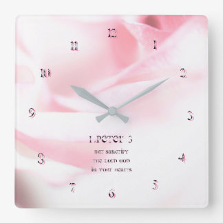 1 Peter chapter 3 But sanctify the Lord God Square Wall Clock
