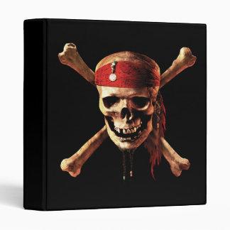 "1"" Pirates of the Caribbean Skull Logo Vinyl Binders"